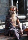 Homme saint au Népal Images stock