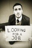 Homme sans emploi image libre de droits