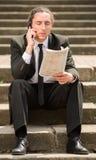 Homme sans emploi Photo stock