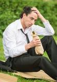 Homme sans emploi images stock