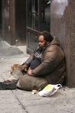 Homme sans foyer Photo stock