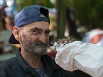 Homme sans foyer Photographie stock libre de droits