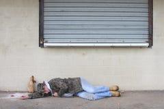 Homme sans foyer Photo libre de droits