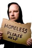 Homme sans foyer Photos stock