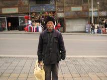Homme sans foyer dans le comté de Yanqing image stock