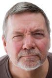 Homme sans foyer mûr, plan rapproché Photographie stock