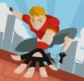 Homme sautant de Parkour Photos stock