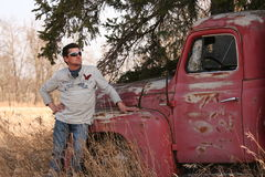 Homme et camion beaux Photographie stock libre de droits