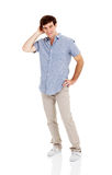 Homme semblant confus photo stock