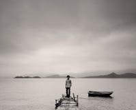 Homme seul photographie stock libre de droits