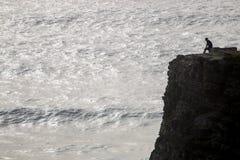 homme seul sur la falaise images libres de droits