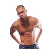Homme sexy de muscle Photographie stock libre de droits