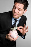 Homme Sneaky d'argent Image libre de droits