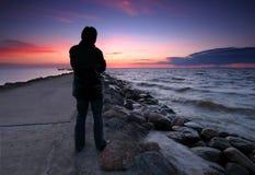Homme solitaire Image libre de droits