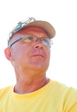 Homme songeur aîné Image libre de droits