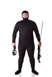 Homme sous-marin de chasseur Image stock