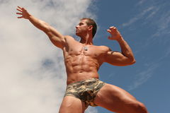 Homme sportif photographie stock