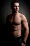 Homme sportif intense Photographie stock libre de droits