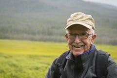 Homme supérieur actif heureux Photo libre de droits