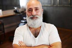 Homme supérieur avec la barbe et la moustache Photo libre de droits