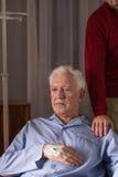 Homme supérieur avec la maladie incurable Photo libre de droits