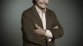 Homme supérieur avec la moustache Image stock