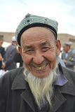 Homme supérieur d'appartenance ethnique d'Uyghur Photos libres de droits