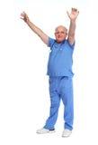 Homme supérieur heureux de docteur Images stock