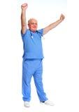 Homme supérieur heureux de docteur Photo libre de droits