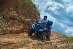 Homme sur ATV Photo libre de droits