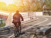 Homme sur la bicyclette Photos libres de droits