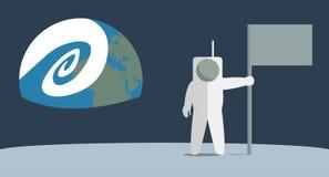 Homme sur la lune Photos libres de droits