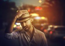 Homme sur la rue Photographie stock libre de droits