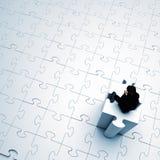 Homme sur la tour des morceaux de puzzle illustration libre de droits