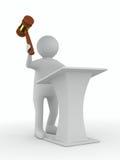 Homme sur la tribune. Image 3D d'isolement Image stock