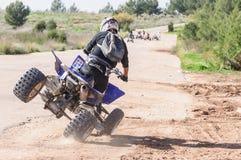 Homme sur le buggy des sables Photo stock