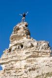 Homme sur le dessus élevé. Photo libre de droits