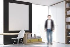 Homme sur le lieu de travail élégant avec l'ordinateur à la maison illustration libre de droits
