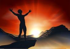 Kicééééé ? - Page 2 Homme-sur-le-sommet-de-montagne-avec-des-bras-%C3%A0-l-ext%C3%A9rieur-22829924
