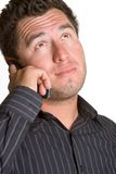 Homme sur le téléphone portable Photo stock