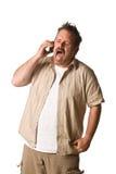 Homme sur le téléphone portable Photos stock