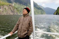 Homme sur un bateau de croisière Image libre de droits