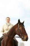 Homme sur un horseback images libres de droits
