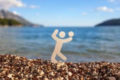 Homme sur une plage Image libre de droits
