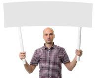 Homme tenant le signe de protestation Concept de démonstration Images stock