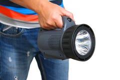 Homme tenant une lanterne Photo libre de droits