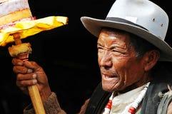 Homme tibétain Image libre de droits