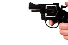 Homme tirant un pistolet image libre de droits