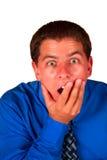 Homme étonné d'affaires Photo stock
