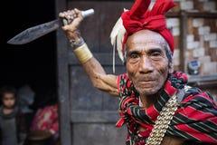 Homme traditionnel de tribu de Chin Photo libre de droits